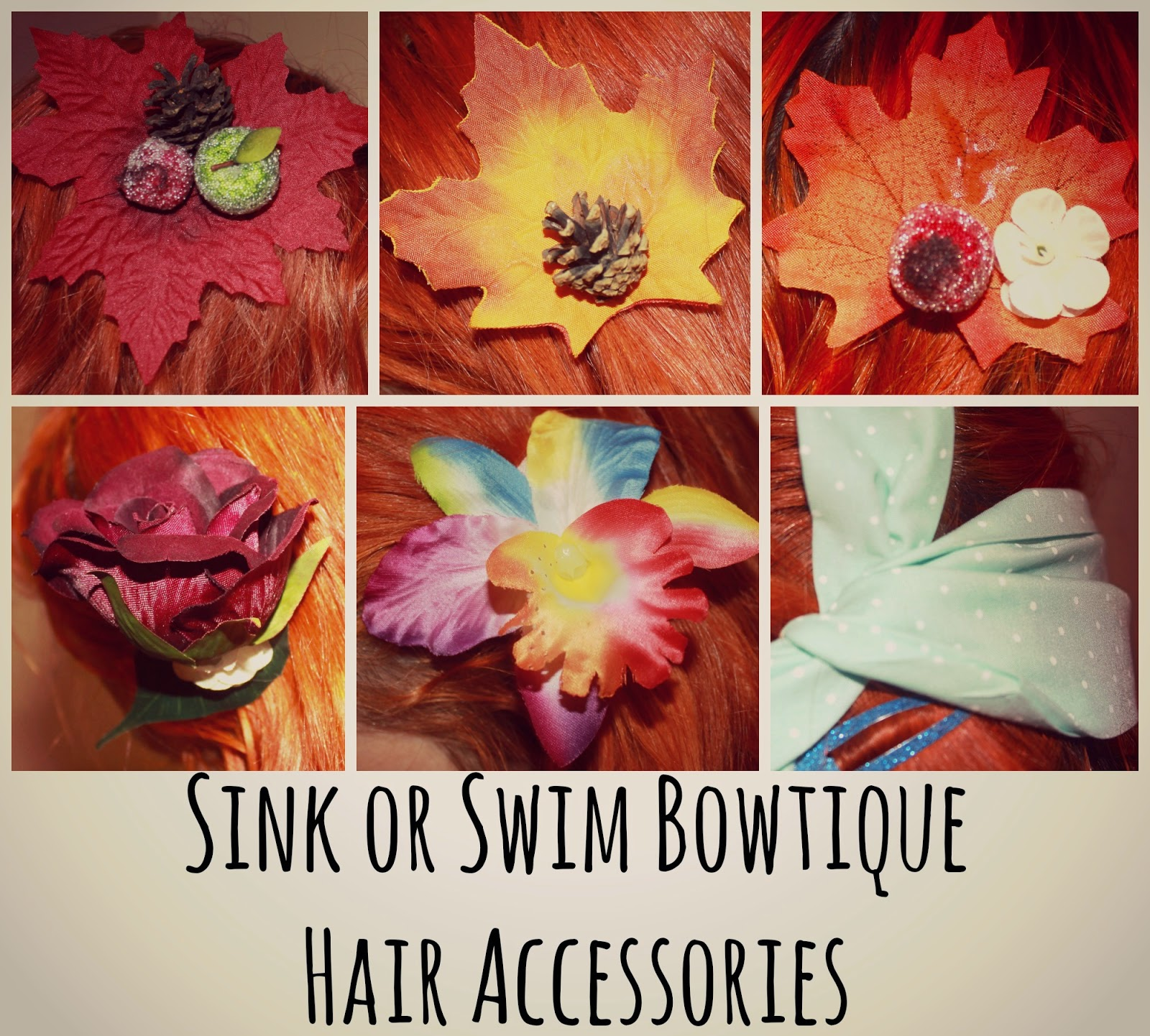 Sink or Swim Bowtique Vintage Style Hair Accessories