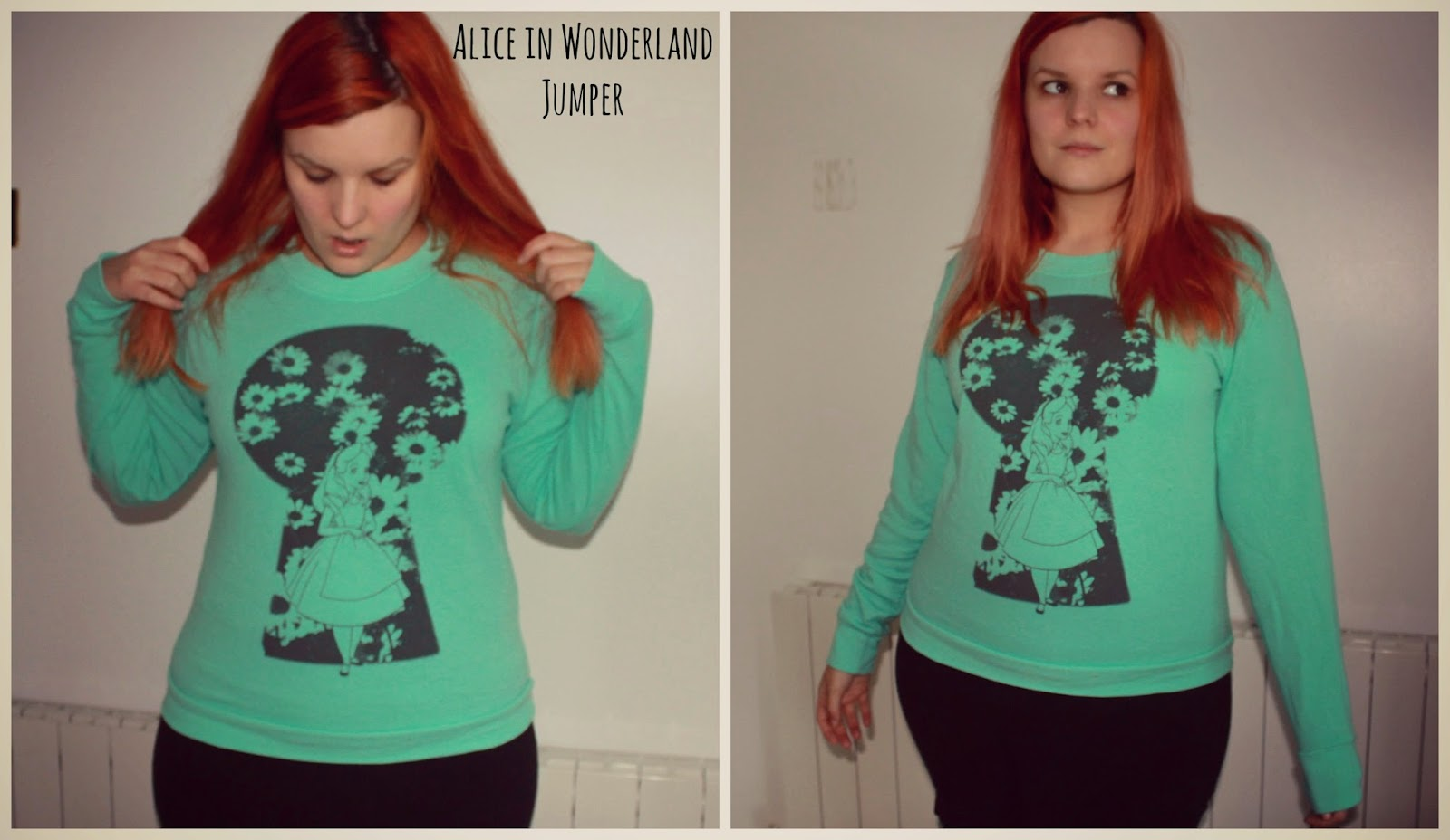 Alice in Wonderland Jumper from Hot Topic