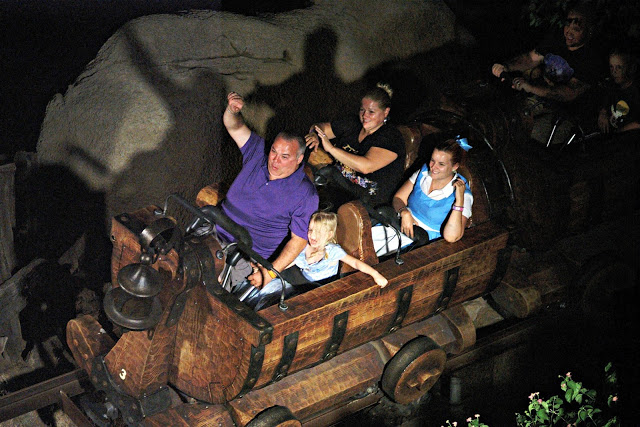 on ride photo of mine train