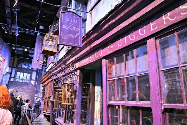 Diagon Alley shops in the Warner Bros Studio Tour