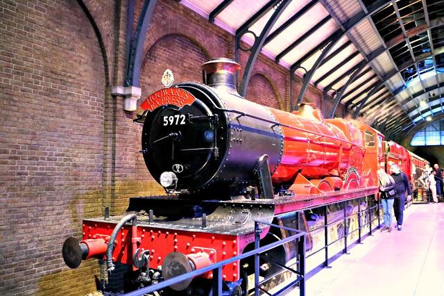 Hogwarts express inside the Warner Bros Studio Tour
