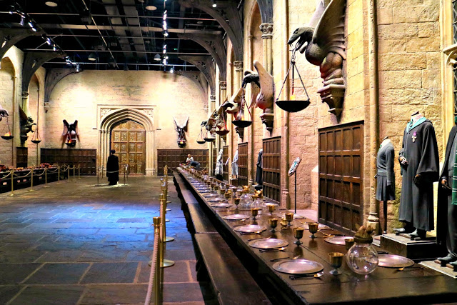 the great hall at the Warner Bros Studio Tour
