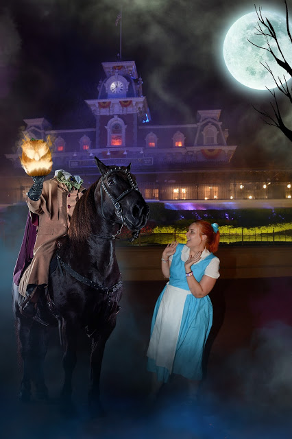 Kariss in fancy dress in the magic kingdom on the night she was Abandoned in Disney World