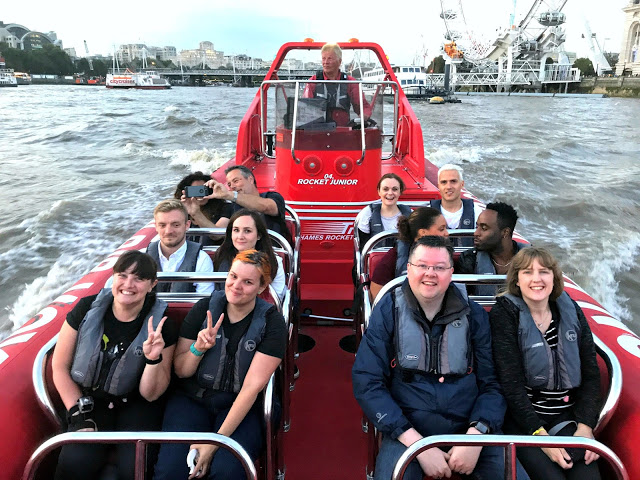 Whipping down London's most famous river with Thames Rockets