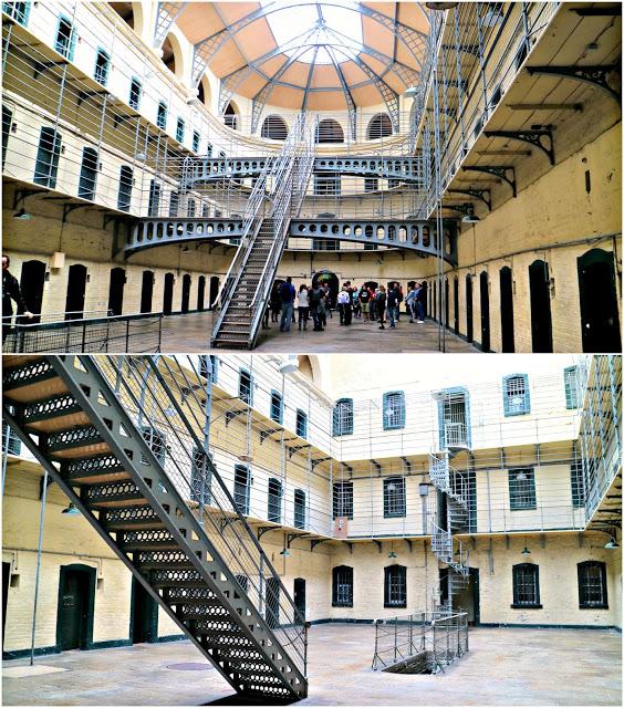 Inside of the prison when spending 72 Hours in Dublin