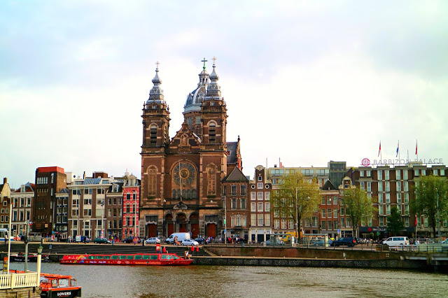 View of the city when visiting Amsterdam on a Budget