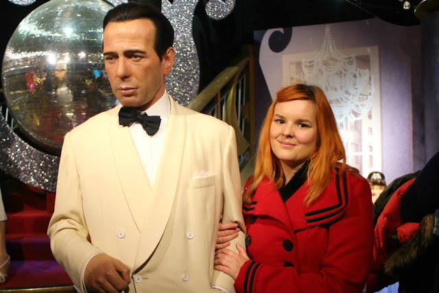 Kariss with a wax model