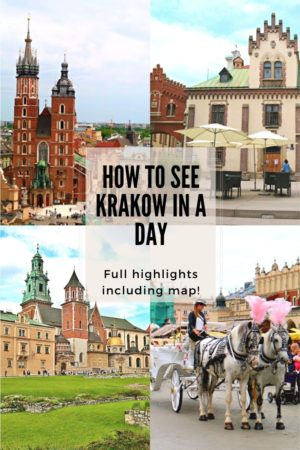 How to see Krakow in a Day Pinterest pin