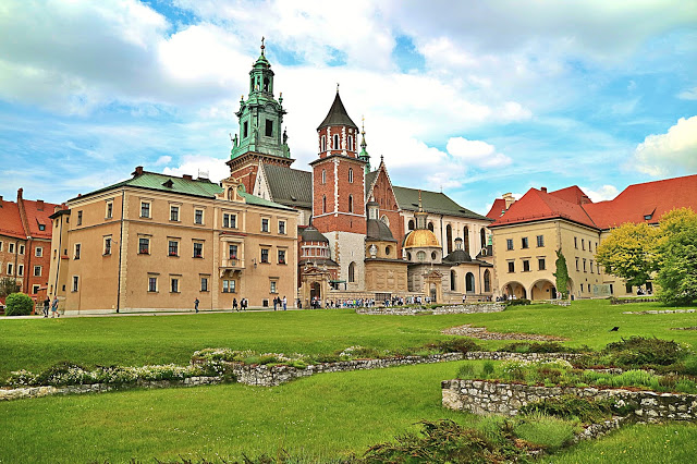 Exterior of the castle, a must see when exploring Krakow in a Day