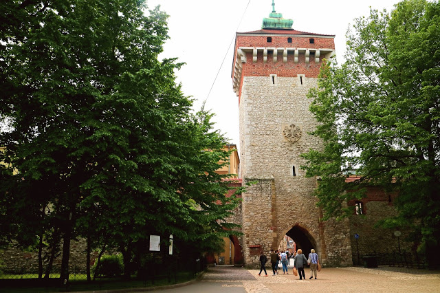 the city wall of Krakow
