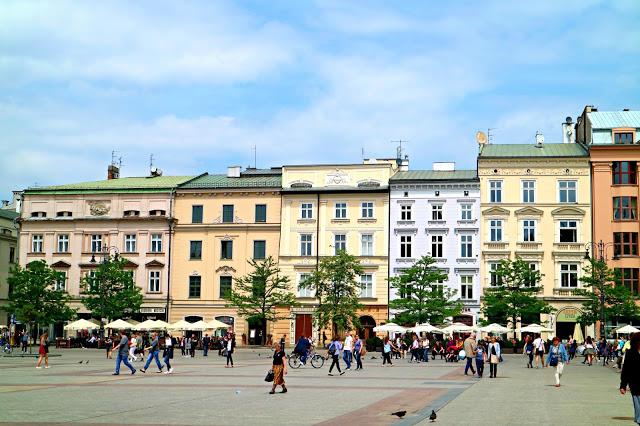 town centre in Krakow