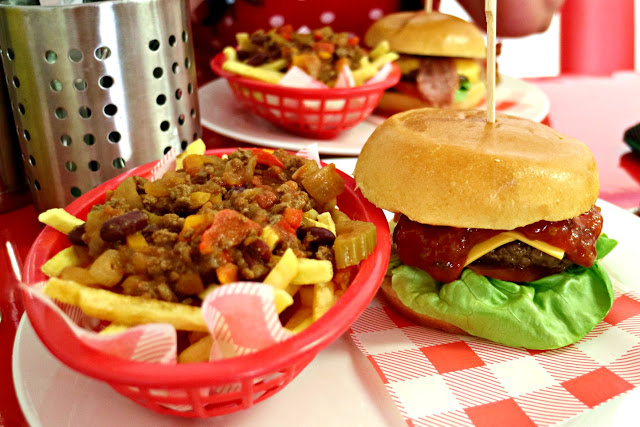 burger and loaded fries