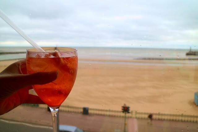 drinks overlooking Margate Beach