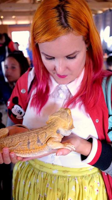 Kariss holding a lizard