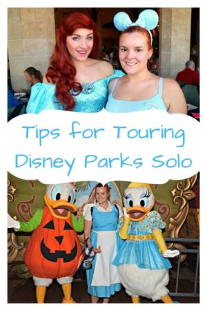 Tips for touring Disney Parks solo Pinterest Pin