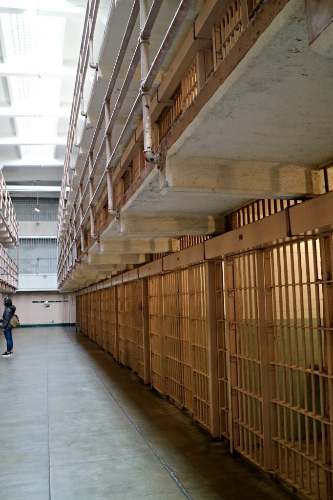 Inside the Alcatraz prison building