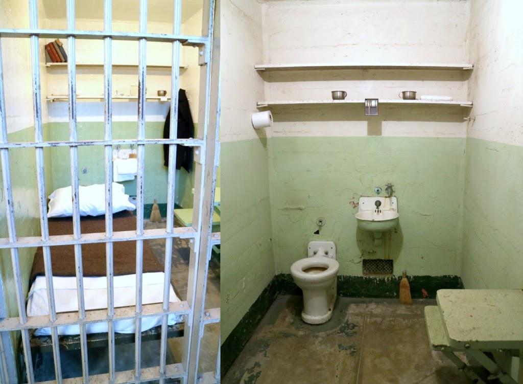 Inside an Alcatraz prison cell