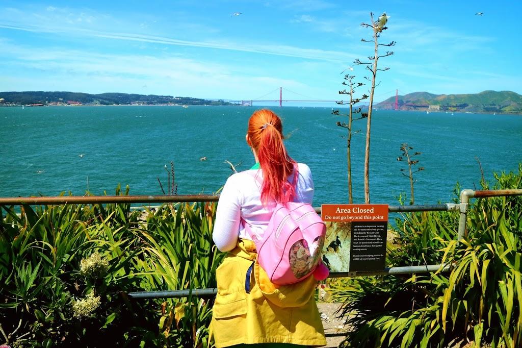 Overlooking San Francisco Bridge from Alcatraz Island