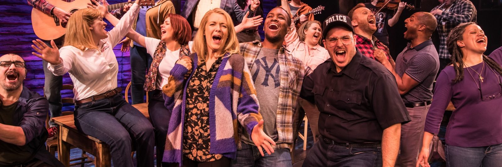 cast of Come From Away performing