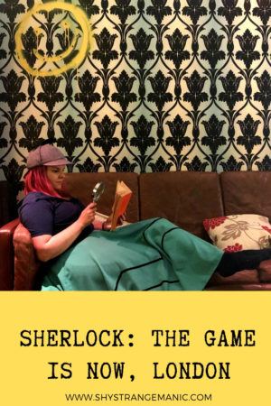 Sherlock: The Game is Now Escape room, London Pinterest