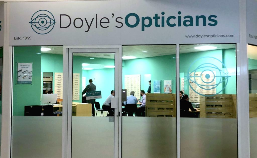 Shop front of Doyle's Opticians