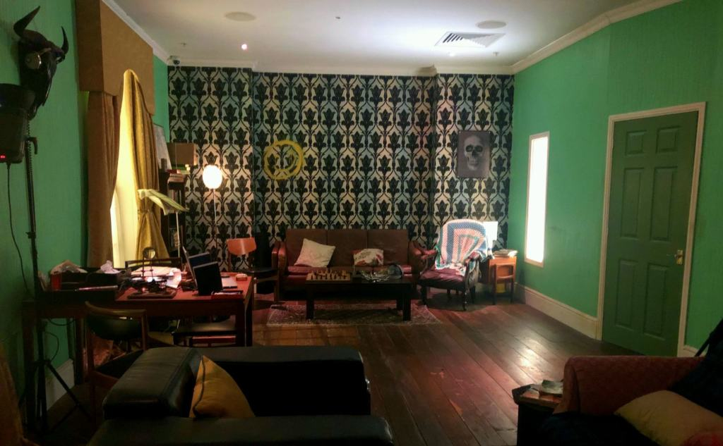 Sherlock's living room set from The Game is Now