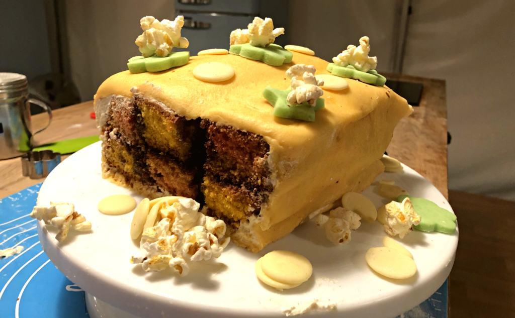 Homemade battenberg cake