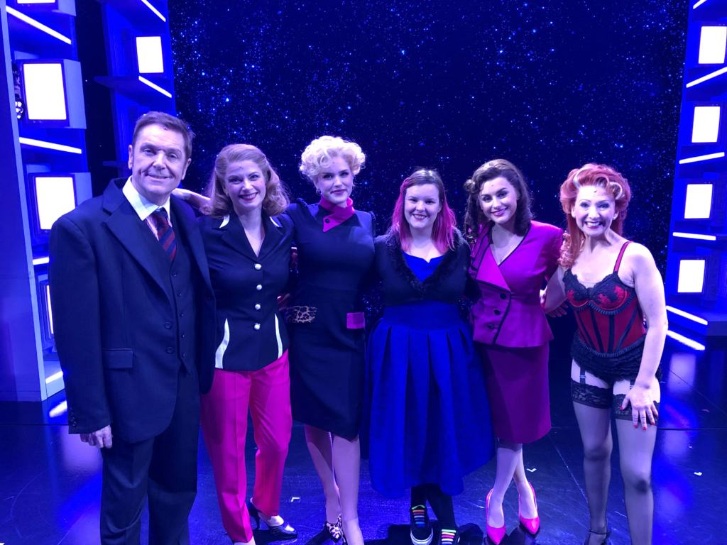 on stage at the 9 to 5 musical london