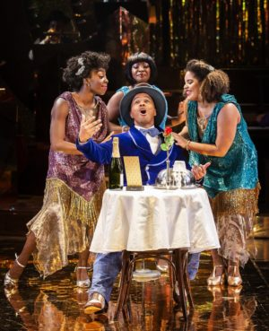 Performers for Ain't Misbehavin' on stage at the Southwark Playhouse