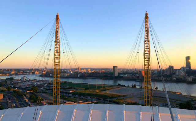 view from the top of the o2