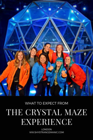 What to Expect from The Crystal Maze Experience London Pinterest Pin