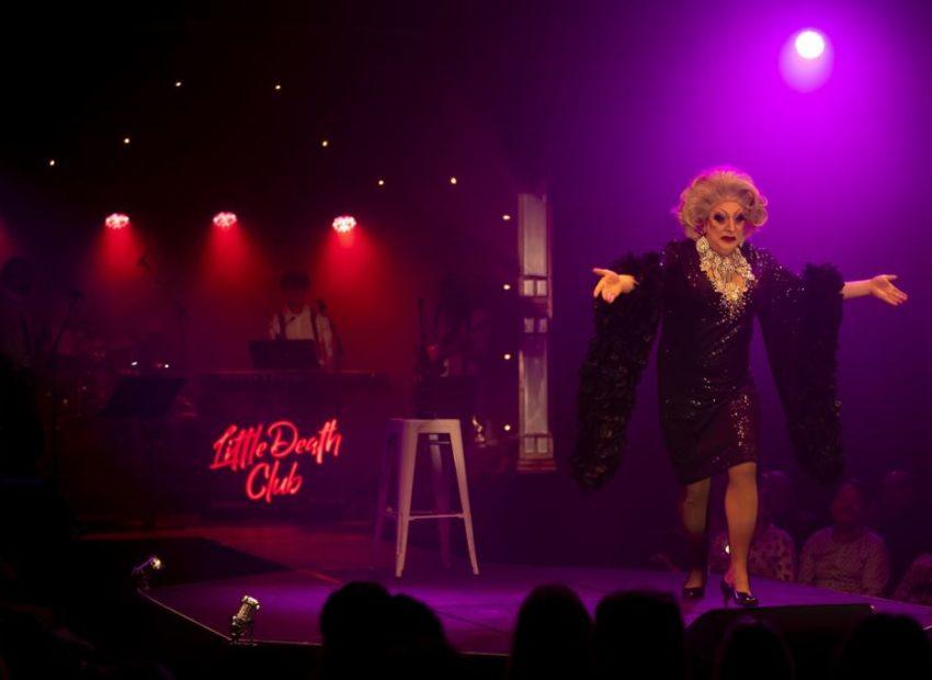 drag queen at Little Death Club
