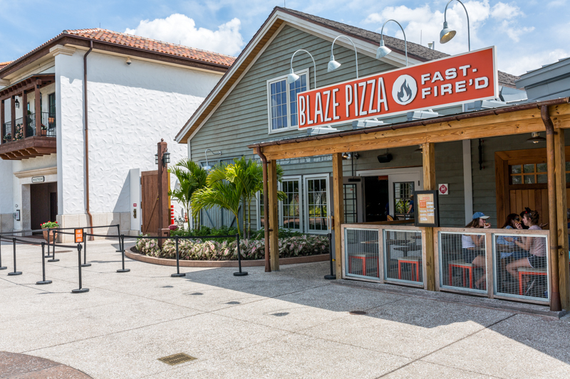 blaze pizza location at disney springs outside