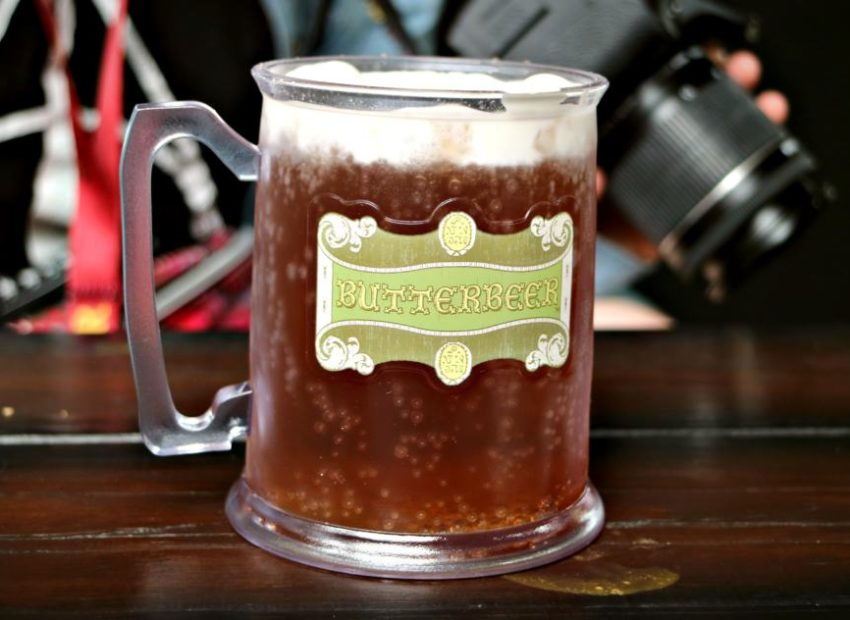 butterbeer in a Wizarding World of Harry Potter souvenir mug