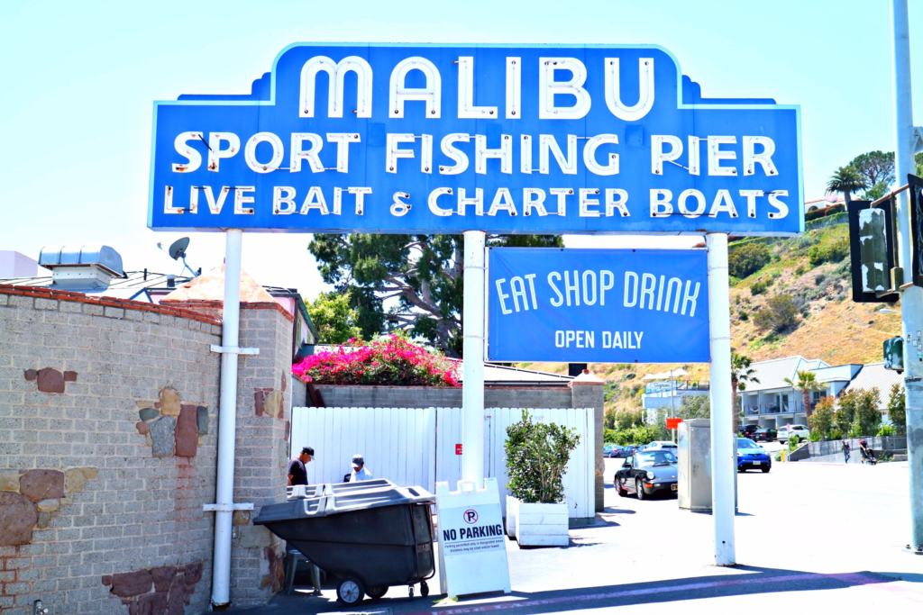 malibu sport fishing pier sign