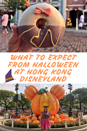 What to expect from Halloween at Hong Kong Disneyland pinterest pin