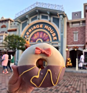 Daisy Duck doughnut at Hong Kong Disneyland