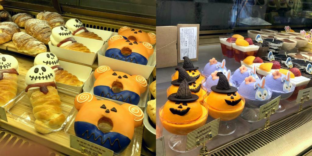 various halloween character themed halloween treats at hong kong disneyland