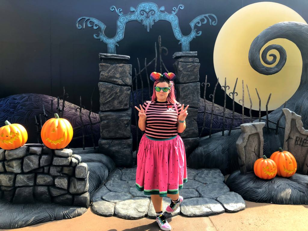 Journey to Halloween Town nightmare before christmas photo spot at hong kong disneyland