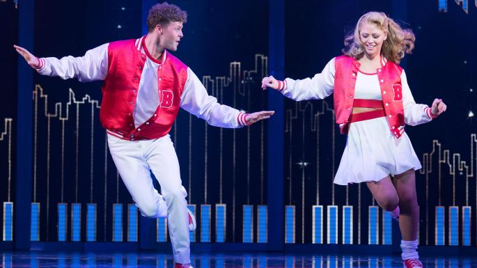 two actors dancing in Big the Musical