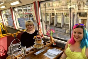 women on the afternoon tea bus
