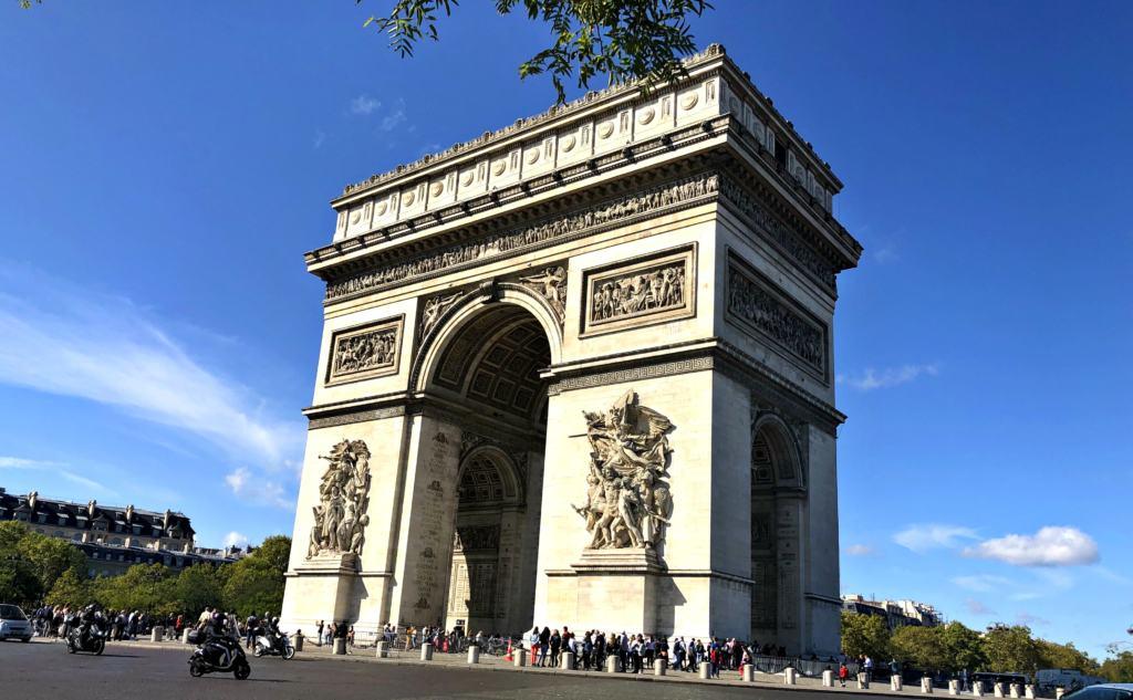 the Arc de Triomphe in Paris