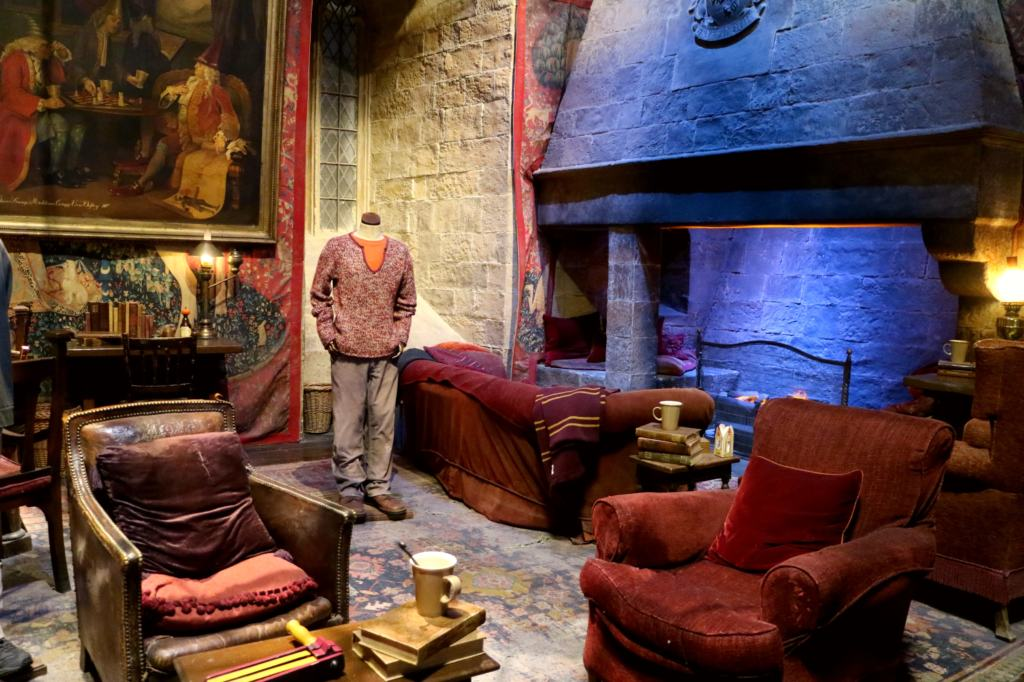 Gryffindor Common room set in the Warner Bros. Studio tour