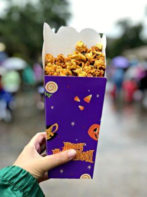 flavoured popcorn in Halloween box at Shanghai Disneyland