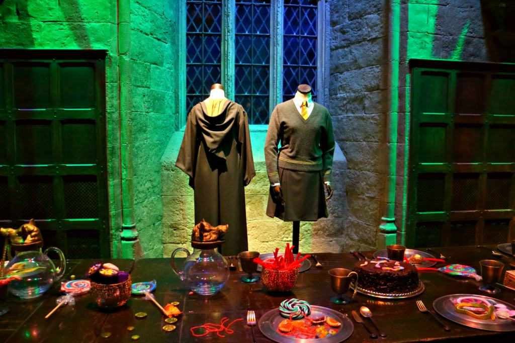 Hogwarts uniforms in the great hall