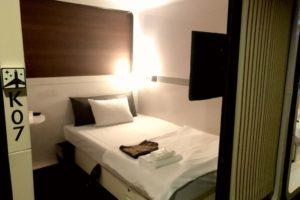 capsule hotel room