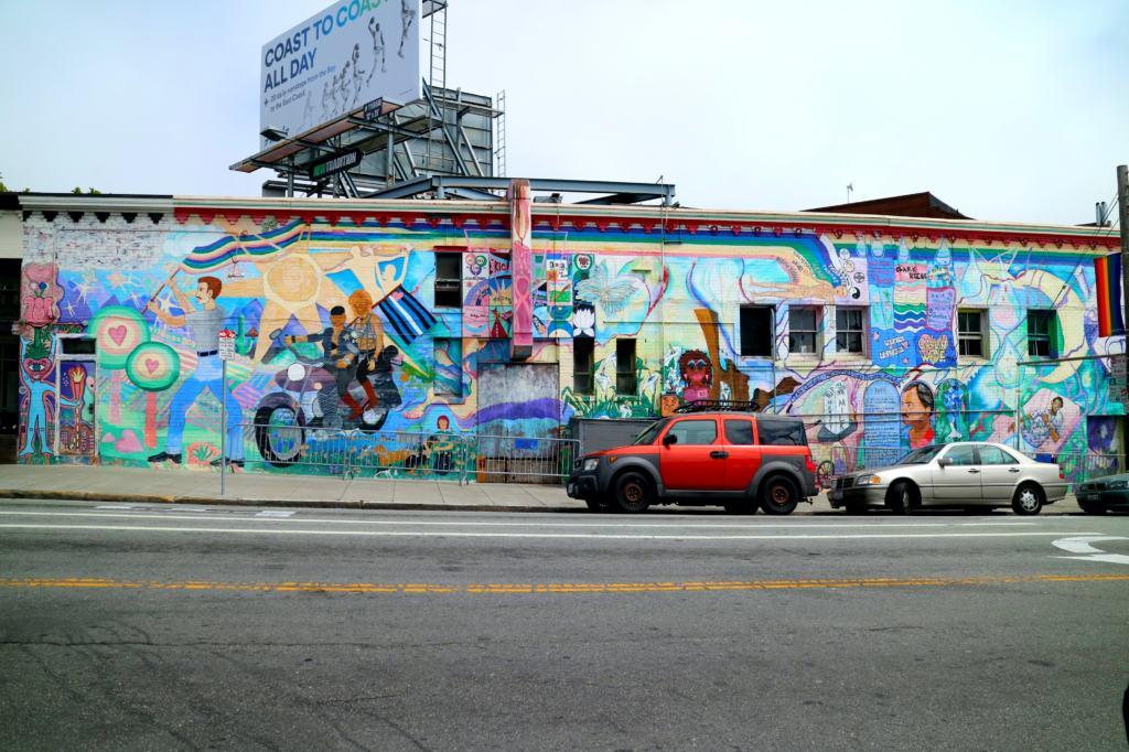 Mural in the castro district on the Cruisin' the Castro Walking Tour