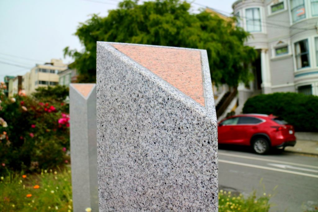 Pink Triangle Memorial Park stone