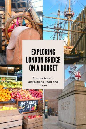 exploring London Bridge pinterest Pin