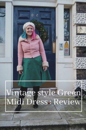 green dress pinterest pin
